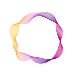 dynamic blend ring shape abstract modern graphic vector image