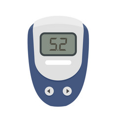 electronic glucometer icon flat style vector image