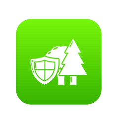 environment protection icon green vector image