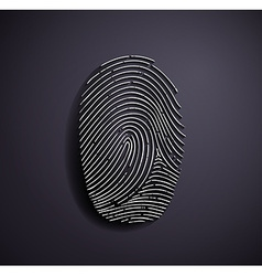 Flat metallic logo fingerprint vector image