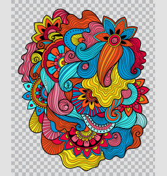 floral tattoo artwork on transparent background vector image