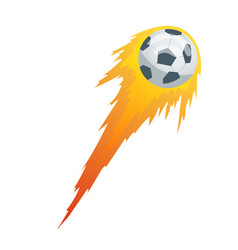 football or soccer balls with motion trails in vector image