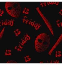 Friday the 13th seamless pattern Dotwork vector