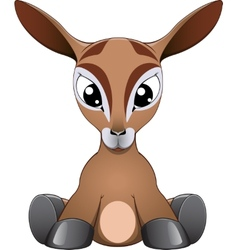 Funny antelope vector image