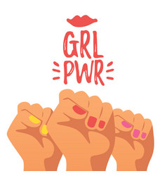 Girls power concept vector