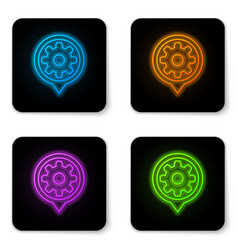 glowing neon setting icon isolated on white vector image