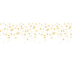 Golden confetti border seamless repeat pattern vector