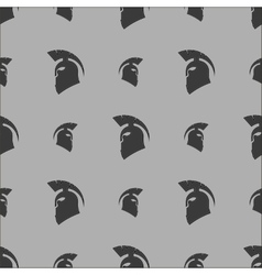 Greek Helmet Silhouette Seamless Pattern vector image