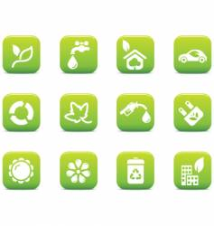 green icons environmental vector image