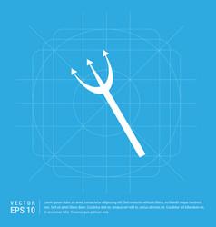 Halloween trident icon vector