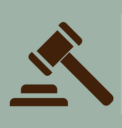 hammer of justice sign icon vector image