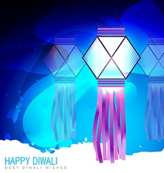 Happy diwali lamp vector