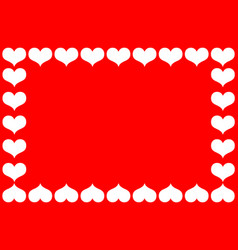 heart red and white vector image