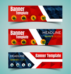 horizontal banner set2 vector image