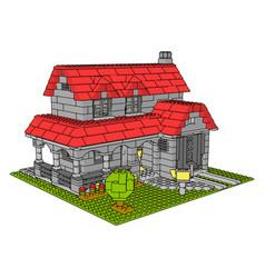 house bricks on white background vector image