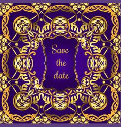 invitation card design vector image