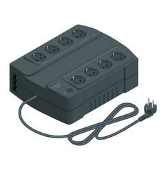 Isometric an uninterruptible power supply vector