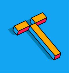 Isometric t letter t 3d logo vector