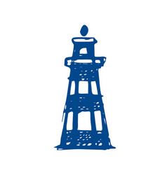 Lighthouse sketch on white background vector