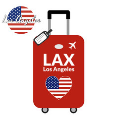 Luggage with airport station code iata or location vector