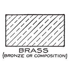Mechanical drawing cross hatching of brass vector