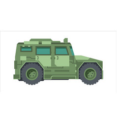 military camouflage jeep armored mobile suv green vector image