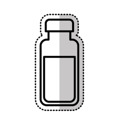 Milk botle isolated icon vector