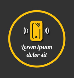 mobile phone with sample sign banner vector image