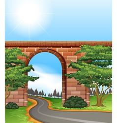 Narrow road vector