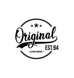 Original typography for t-shirt print apparel vector