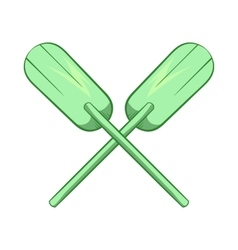 Paddles icon cartoon style vector