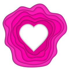 Paper cut heart vector