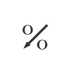 percent down arrow icon isolated decreasing vector image