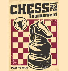 promo poster design for chess tournament vector image