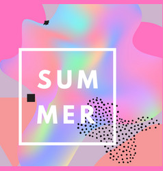 promotional design poster with text summer on vector image