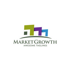 real estate business company logo vector image
