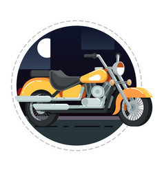 retro chopper icon in flat design vector image