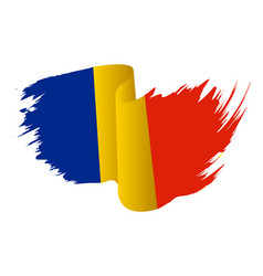 romania flag symbol icon design romanian flag vector image