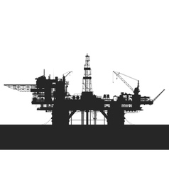 Sea oil rig Oil platform in the sea Detailed vector image