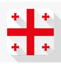 Simple flat icon Georgia flag vector image