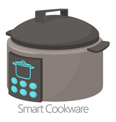 Smart cookware icon cartoon style vector