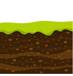 Soil profile and horizons piece land vector