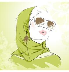 Spring fashion girl vector