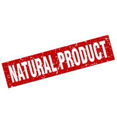 square grunge red natural product stamp vector image