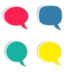 Sticky speech bubbles vector image