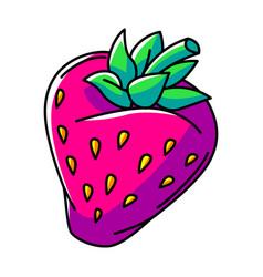 Strawberry colorful cute cartoon vector
