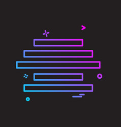 text alignment icon design vector image