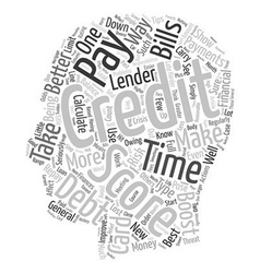 The Best Ways To Boost Your Credit Score text vector image