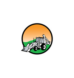 Tractor logo design vector