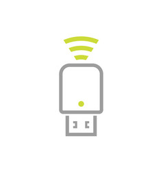 Usb modem icon on white vector